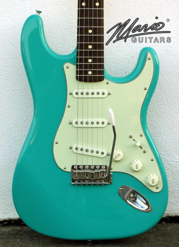 Mario Guitar Mario Martin S Seafoam Green 1