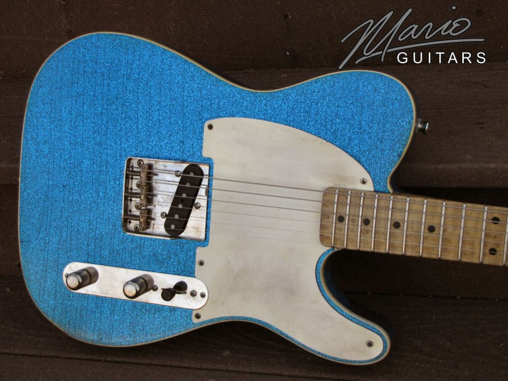 Mario Guitar Mario Martin T Lake Placid Blue Flake 1