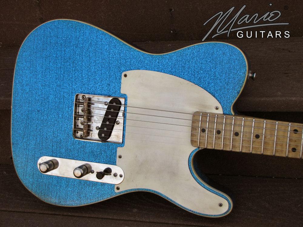Mario Guitar Mario Martin T Lake Placid Blue Flake 1