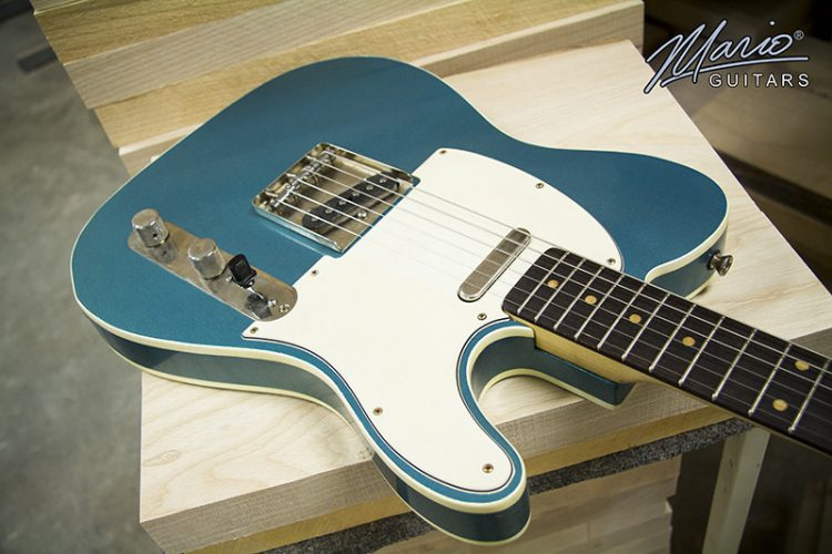 Mario Guitar Mario Martin T Style Ocean Turquoise Double Bound 2.
