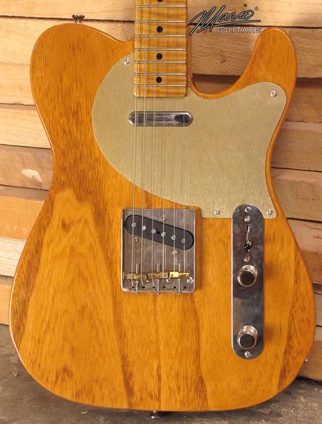 Mario Guitars Paulownia T Amber 3-L