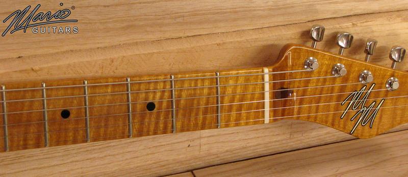 Mario Guitars Paulownia T Amber 4-L