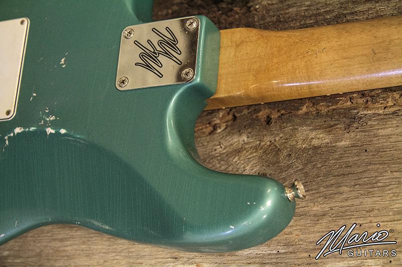 Mario Guitars Sherwood Green S Style 6