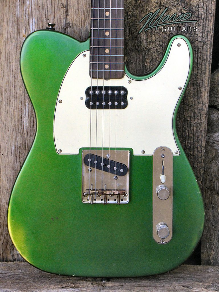 Mario Guitars T Style – paulownia Candy apple green 3