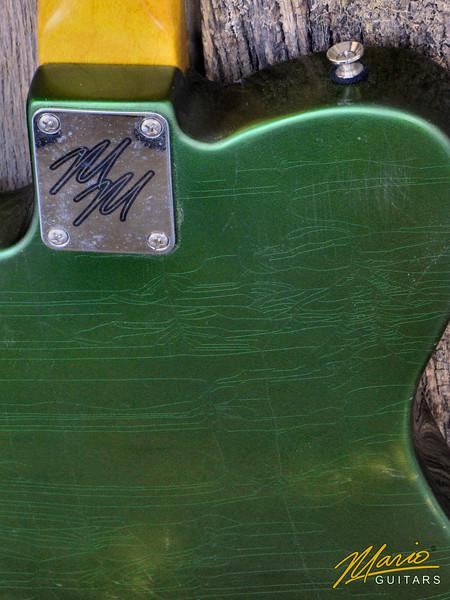 Mario Guitars T Style – paulownia Candy apple green 5-L