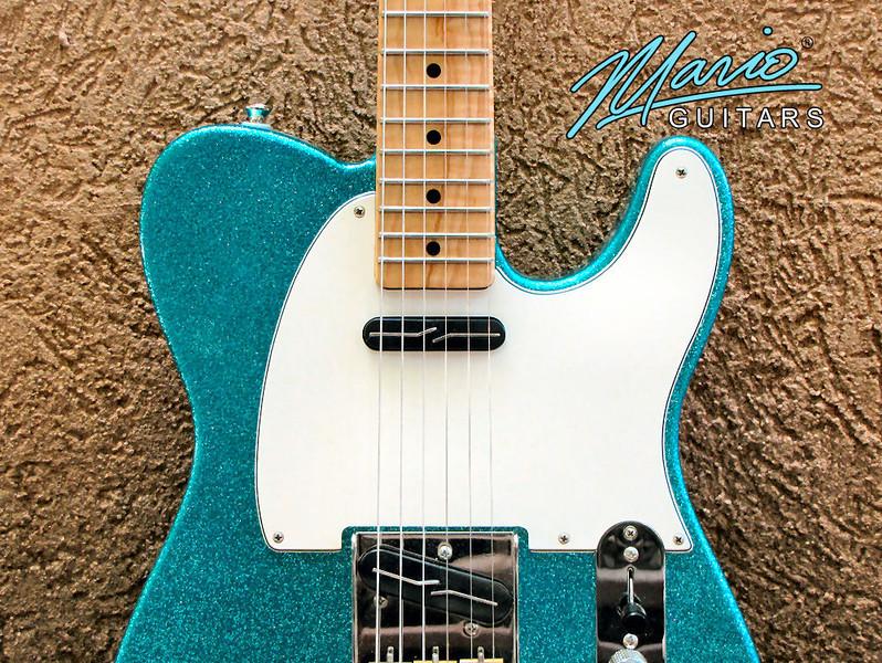 Mario Martin Guitar Aqua Marine Flake T tele 1-L