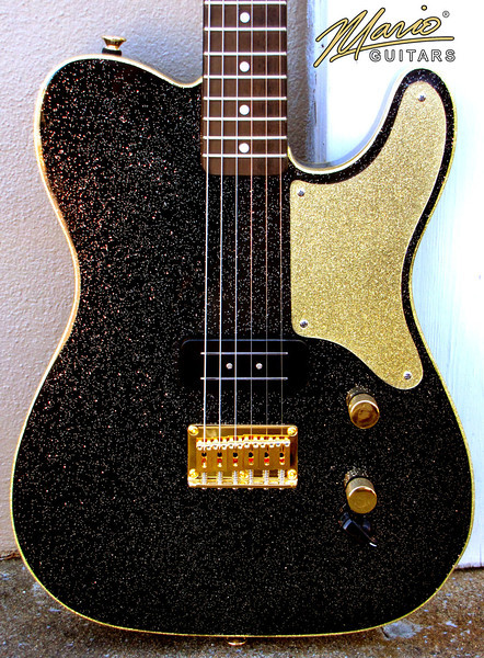 Mario Martin Guitar Black Flake T tele 1-L
