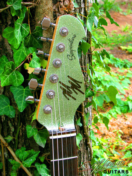 Mario Martin Guitar Coke Bottle Green Serpentine 3-L