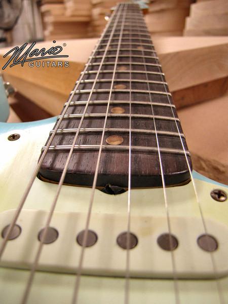 Mario Martin Guitar Sonic Blue Strat 12-L