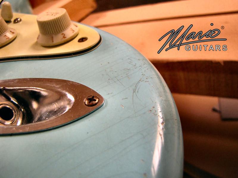 Mario Martin Guitar Sonic Blue Strat 13-L