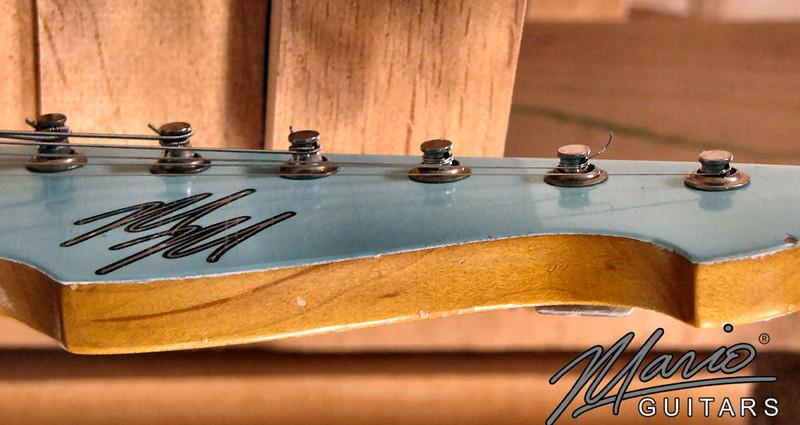 Mario Martin Guitar Sonic Blue Strat 3-L