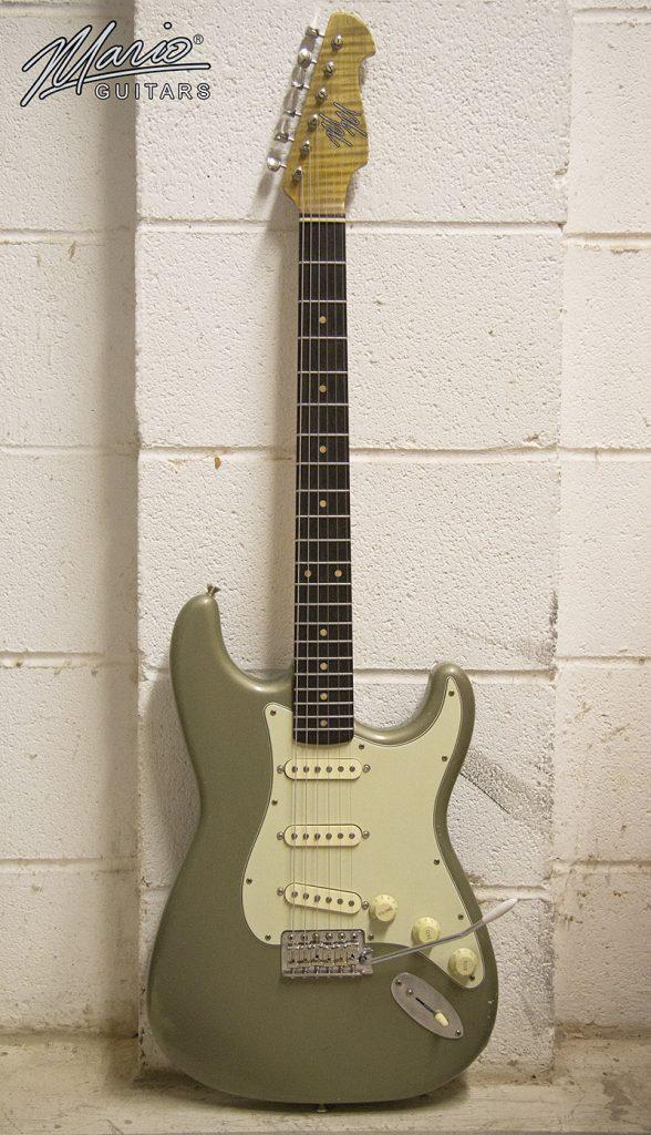 Mario Martin Mario Guitar S Style Olive Drab Metallic 1.