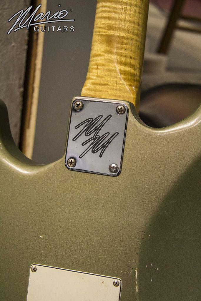Mario Martin Mario Guitar S Style Olive Drab Metallic 9.