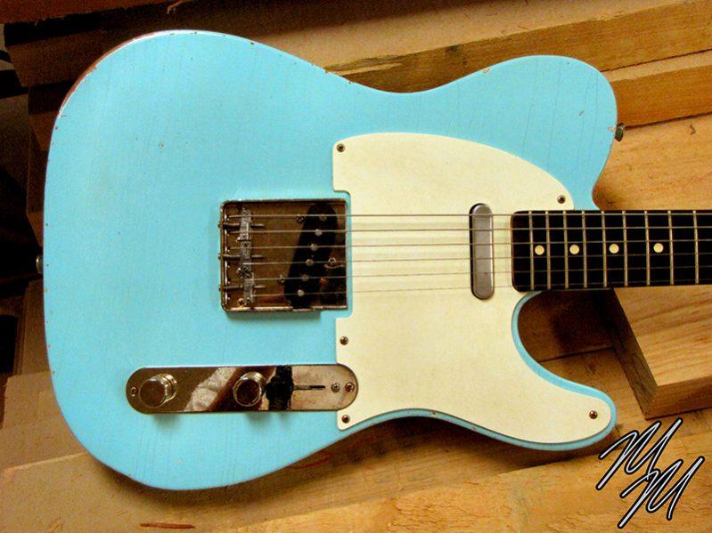 Mario Martin Mario Guitar T style Sonic Blue