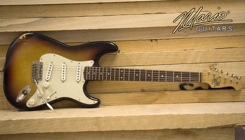 Mario Martin Mario Guitars 3 Tone Burst Strat