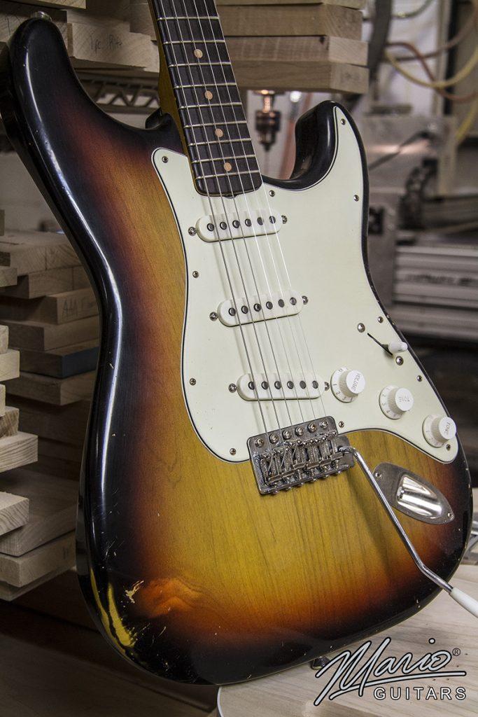 Mario Martin Mario Guitars 3 Tone Sunburst S Style 3.