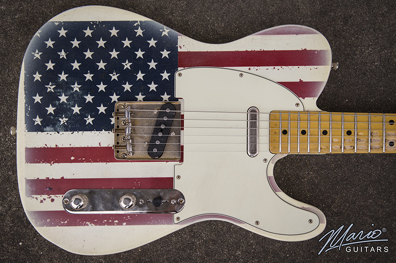 Mario Martin Mario Guitars American Flag Guitar
