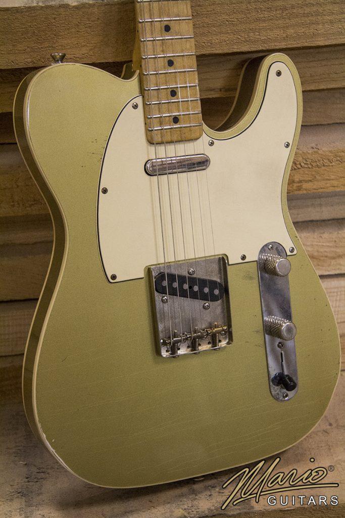 Mario Martin Mario Guitars Aztec Gold T Style relic double bound Corey Congillo 1