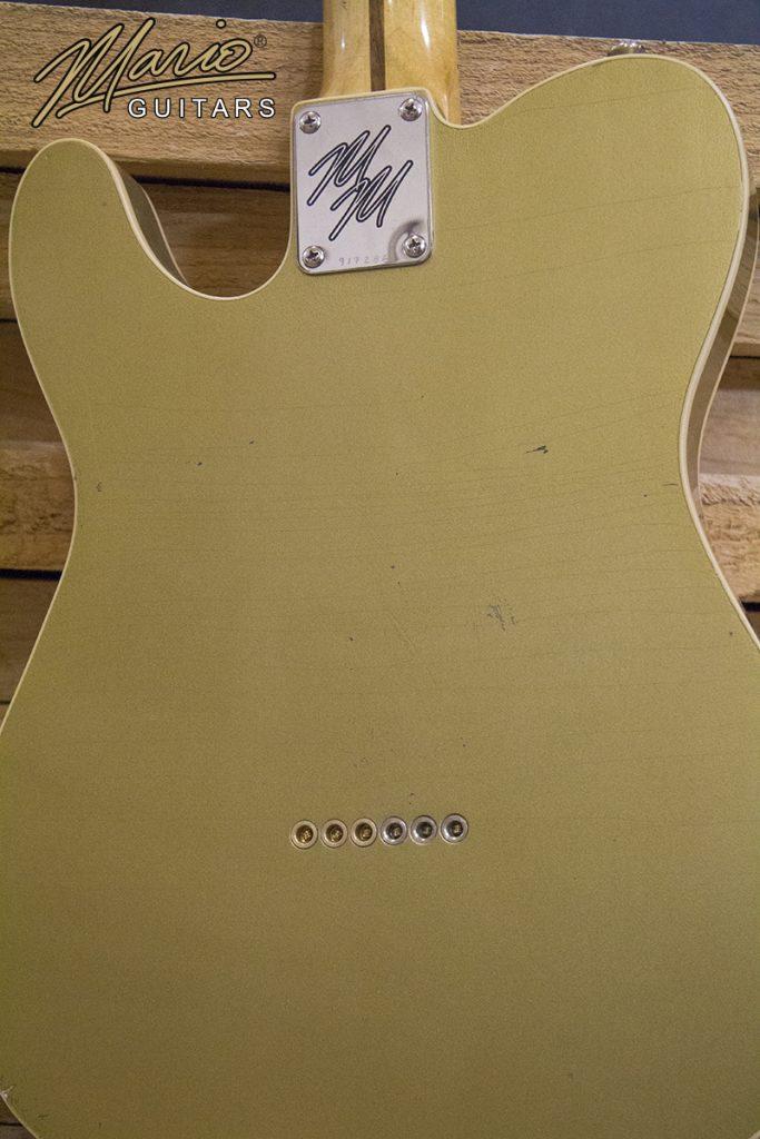 Mario Martin Mario Guitars Aztec Gold T Style relic double bound Corey Congillo 2