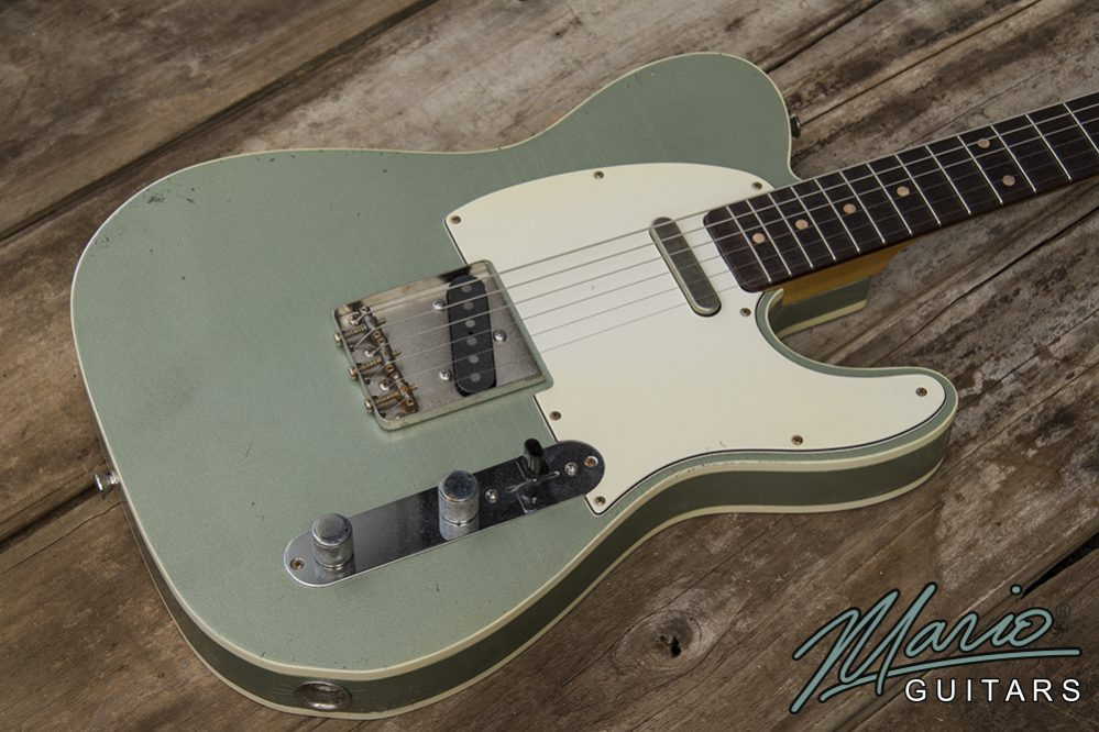 Mario Martin Mario Guitars Firemist Silver Green Tele 1.