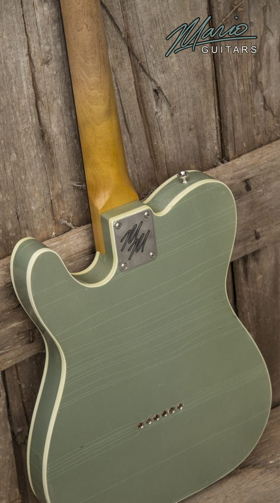 Mario Martin Mario Guitars Firemist Silver Green Tele 2.