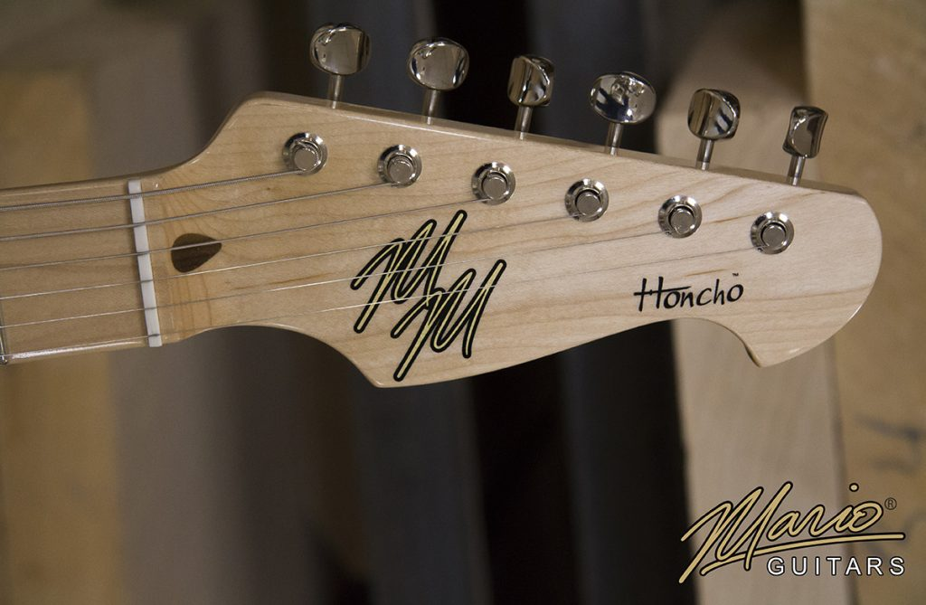 Mario Martin Mario Guitars Honcho headstock