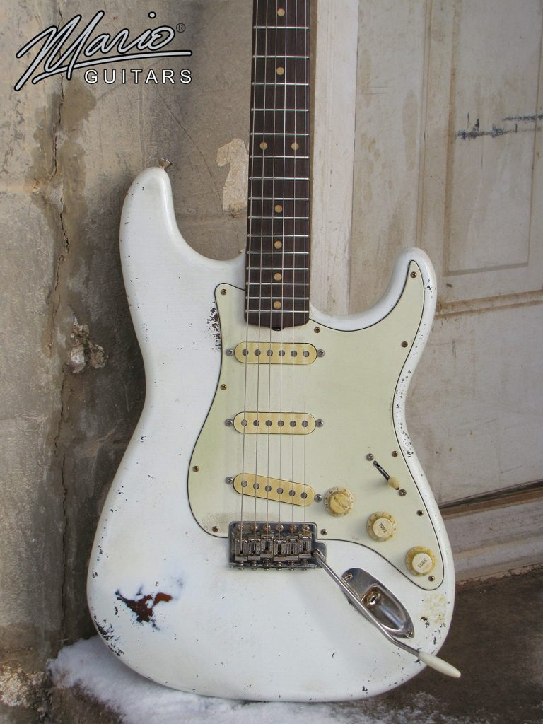 Mario Martin Mario Guitars S Olympic white over burst 1.