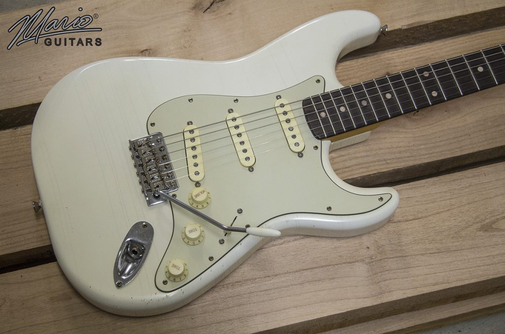 Mario Martin Mario Guitars S Style Olympic White 1.