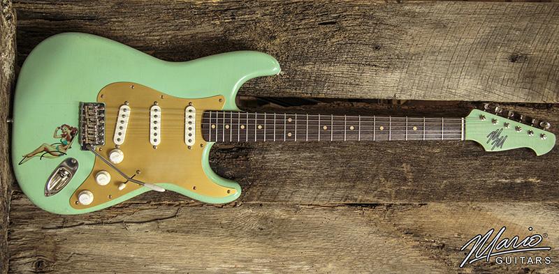 Mario Martin Mario Guitars Seafoam Green Pinup Girl Strat 1