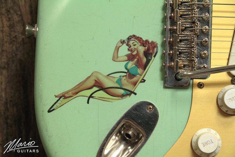 Mario Martin Mario Guitars Seafoam Green Pinup Girl Strat 2
