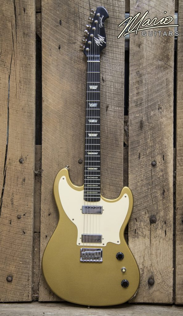 Mario Martin Mario Guitars Serpentine Bullion Gold Gold Top 1.