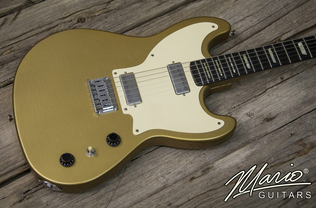 Mario Martin Mario Guitars Serpentine Bullion Gold Gold Top 2.