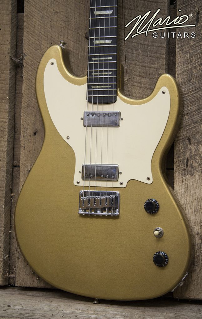 Mario Martin Mario Guitars Serpentine Bullion Gold Gold Top 3.