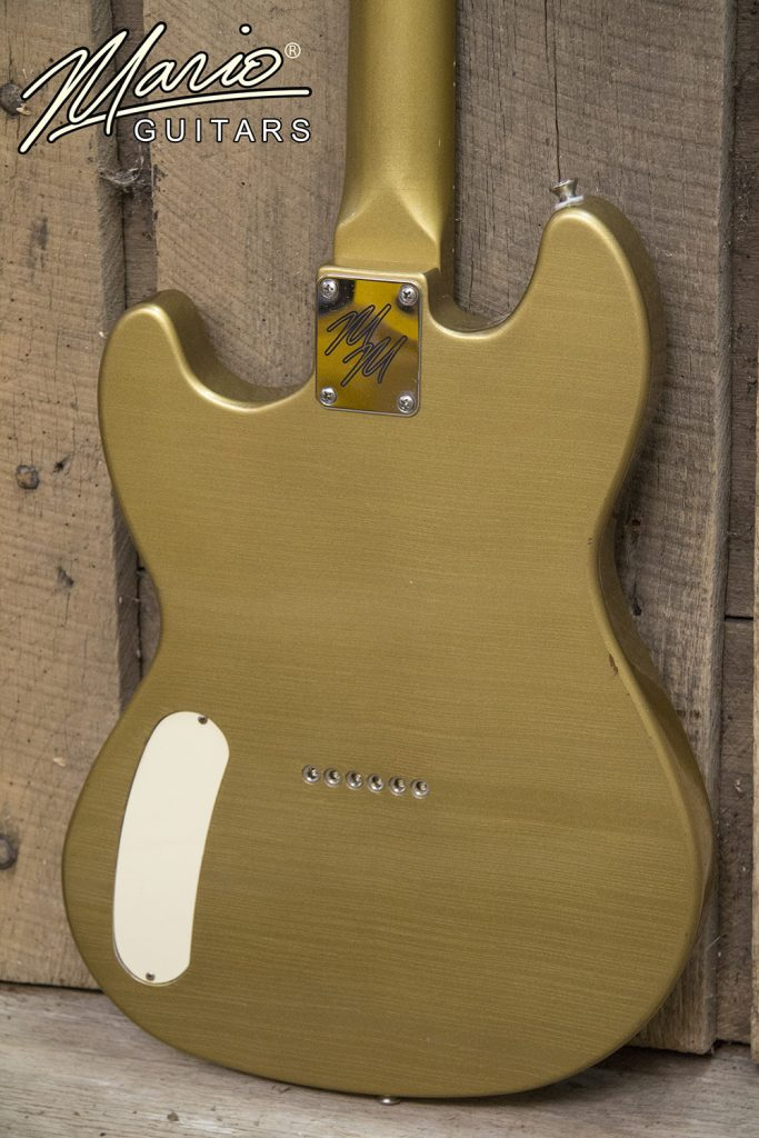 Mario Martin Mario Guitars Serpentine Bullion Gold Gold Top 4.