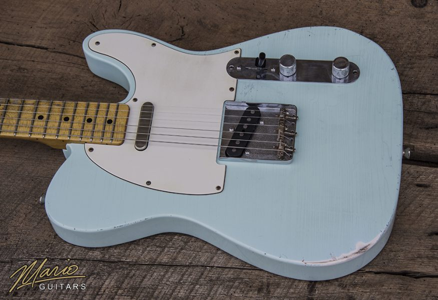 Mario Martin Mario Guitars Sonic Blue T Style tele relic1