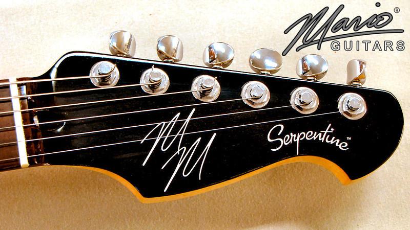 Mario Martin Serpentine Guitar Black on Black 3-L